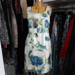Banana Republic 100% Silk Sleeveless Print Dress